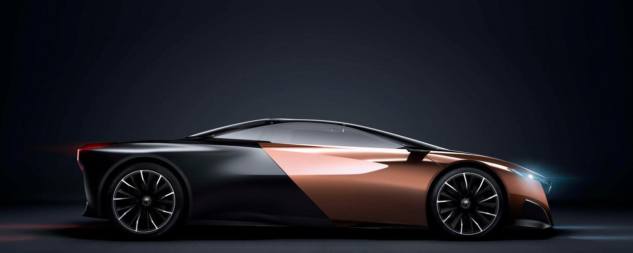 Diseño Peugeot Onyx - Vista lateral carrocería Onyx